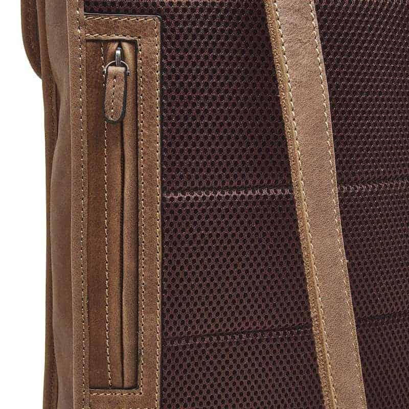 72 9575 Castelijn _ Beerens - Carisma - Laptop Backpack 15.6_ RFID - cognac detaljer 2