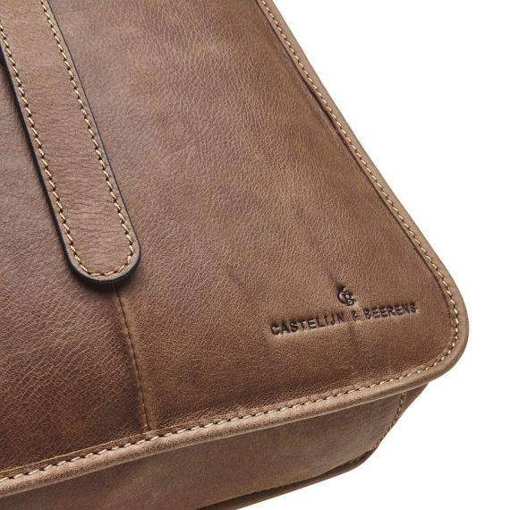 72 9575 Castelijn _ Beerens - Carisma - Laptop Backpack 15.6_ RFID - cognac detaljer