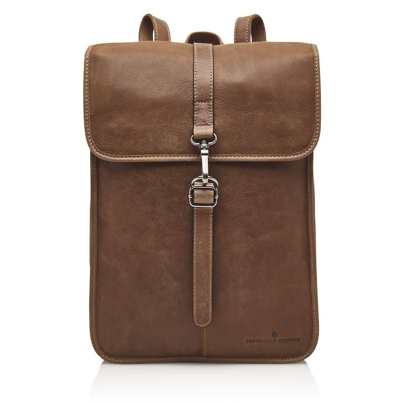 72 9575 Castelijn _ Beerens - Carisma - Laptop Backpack 15.6_ RFID - cognac forside