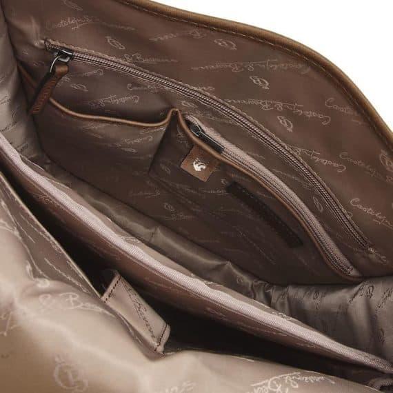 72 9575 Castelijn _ Beerens - Carisma - Laptop Backpack 15.6_ RFID - cognac innside