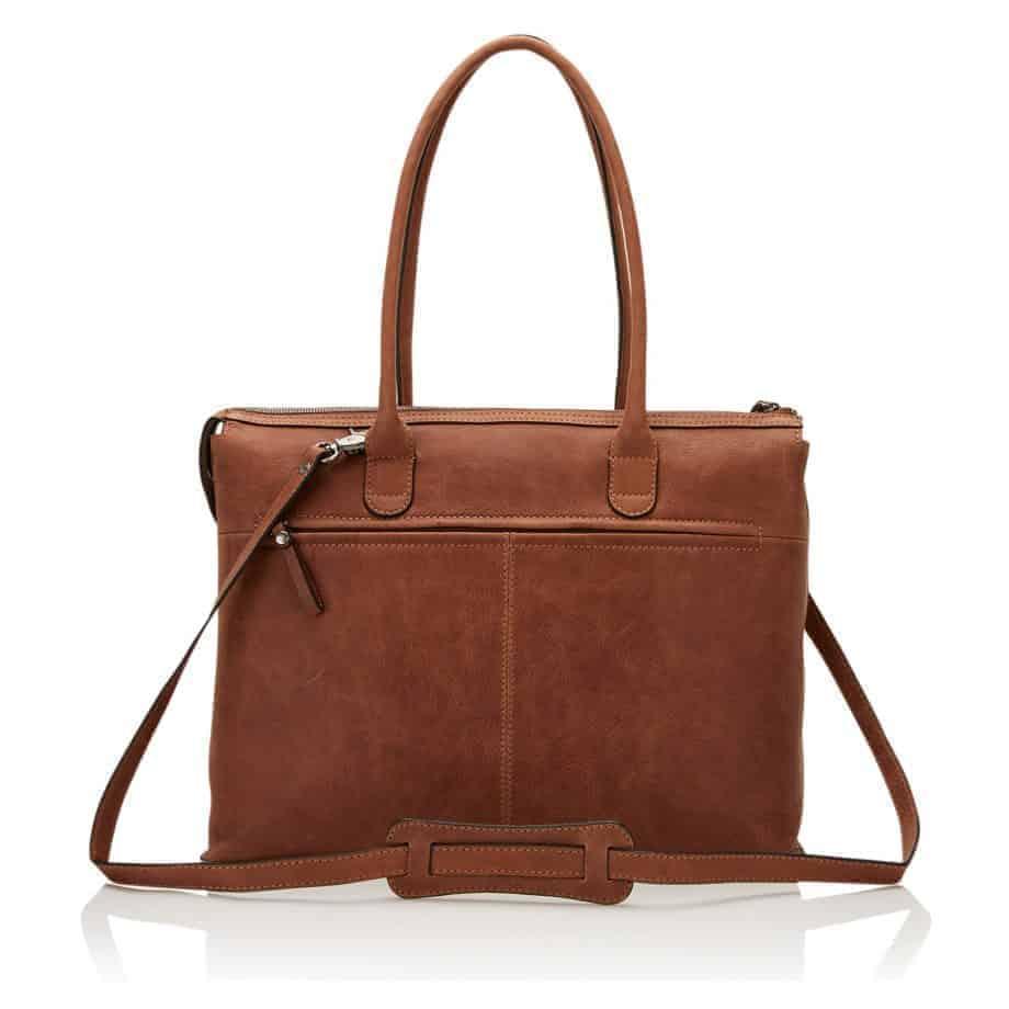 72 9761 Castelijn Beerens laptop shoulderbag cognac bakside