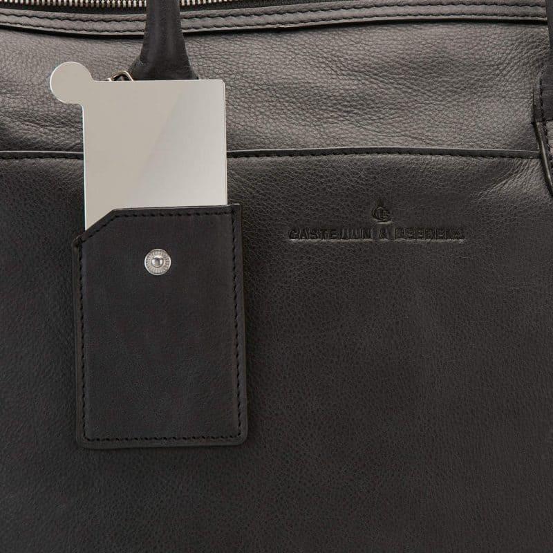 72 9761 Castelijn Beerens laptop shoulderbag sort detaljer