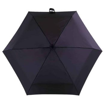 8071 Totes paraply kompakt flat - sort - fra oversiden