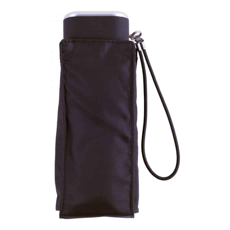 8071 Totes kompakt flat paraply sort