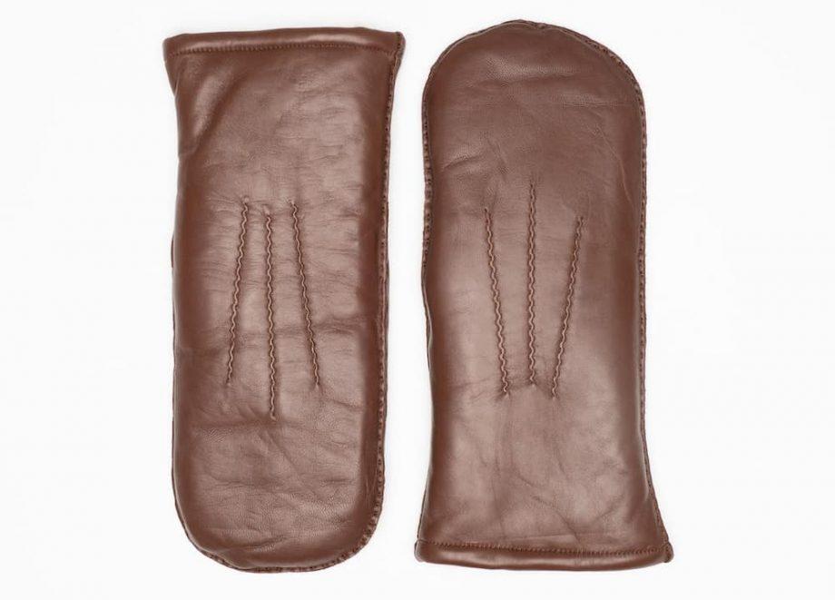 8125-8 Vott til herre med pels - mocca brown - overside