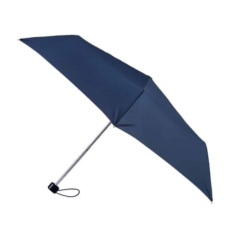 8130 Totes Supermini paraply navy - open fra siden