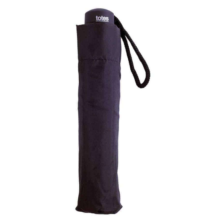 8130 Totes Supermini paraply sort - lukket