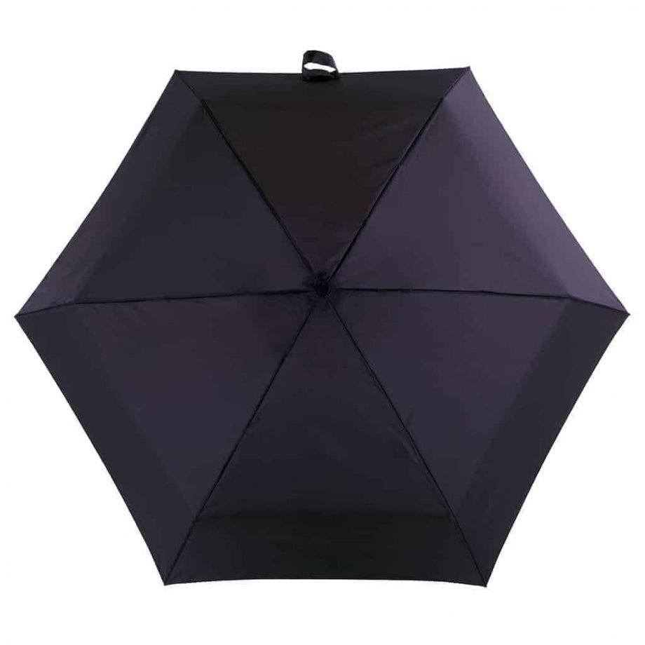 8130 Totes Supermini paraply sort - skjermen sett ovenfra