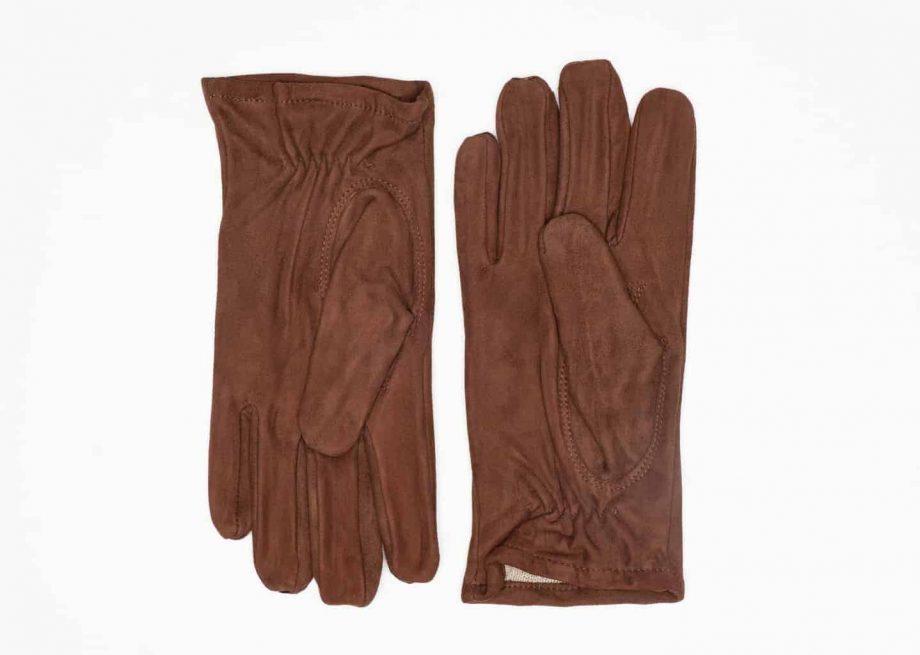 8245-1 Semskede herrehansker med ullfor - Ellegant - brun - underside