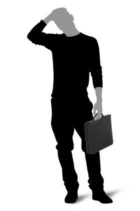 8539 TOSCANA Picard dokumentmappe sort på figur