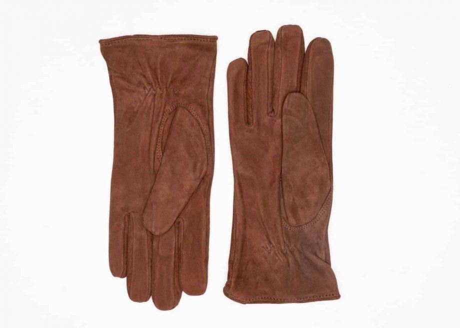 9250-1 Semskede damehansker ullfor brun 2