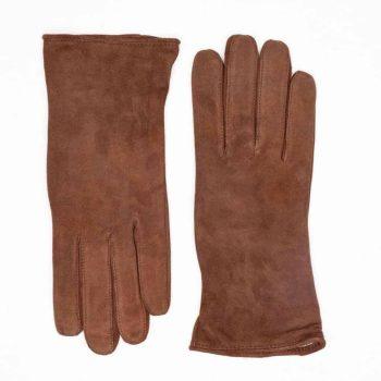 9250-1 Semskede damehansker ullfor brun 3