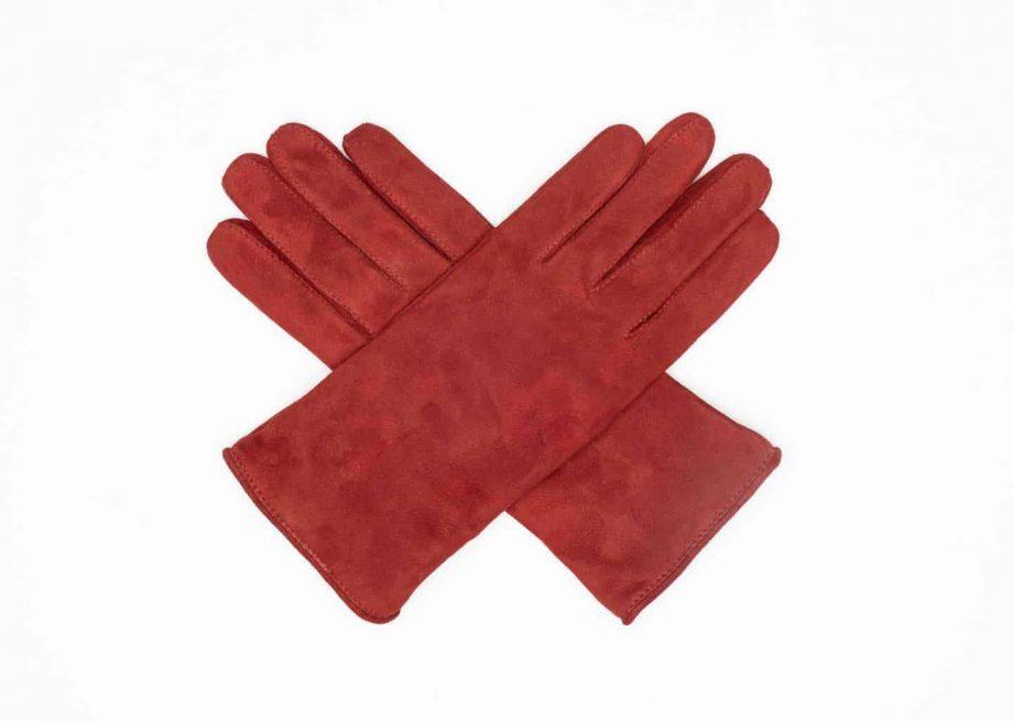9250-1 Semskede damehansker ullfor red