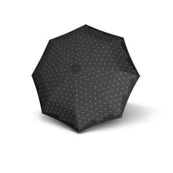 9532004800 Knirps duomatic paraply T.200 sort og hvit oppslått