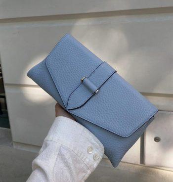 DE403 DECADENT Susanna clutch ice blue lifestyle