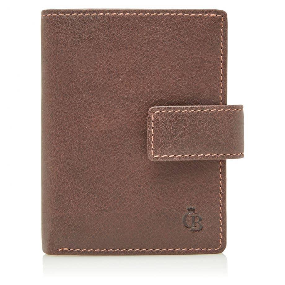 48 0856 Castelijn Beerens RFID 10 Card Mini Wallet Mocca Forside