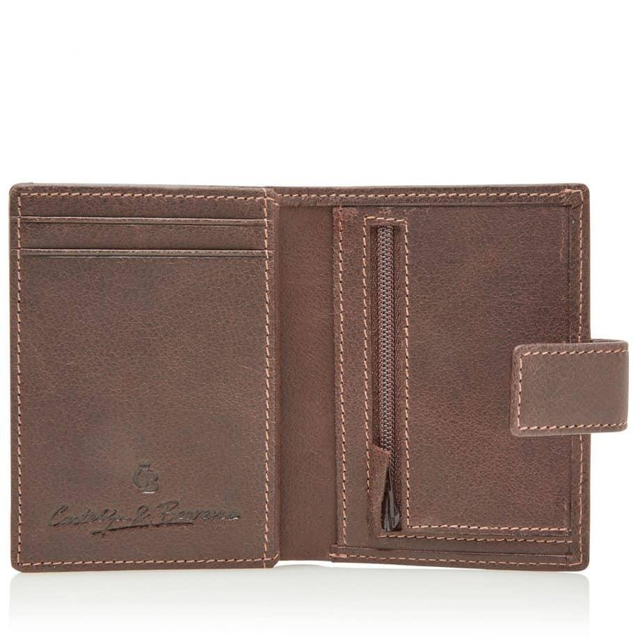 48 0856 Castelijn Beerens RFID 10 Card Mini Wallet Mocca Innside