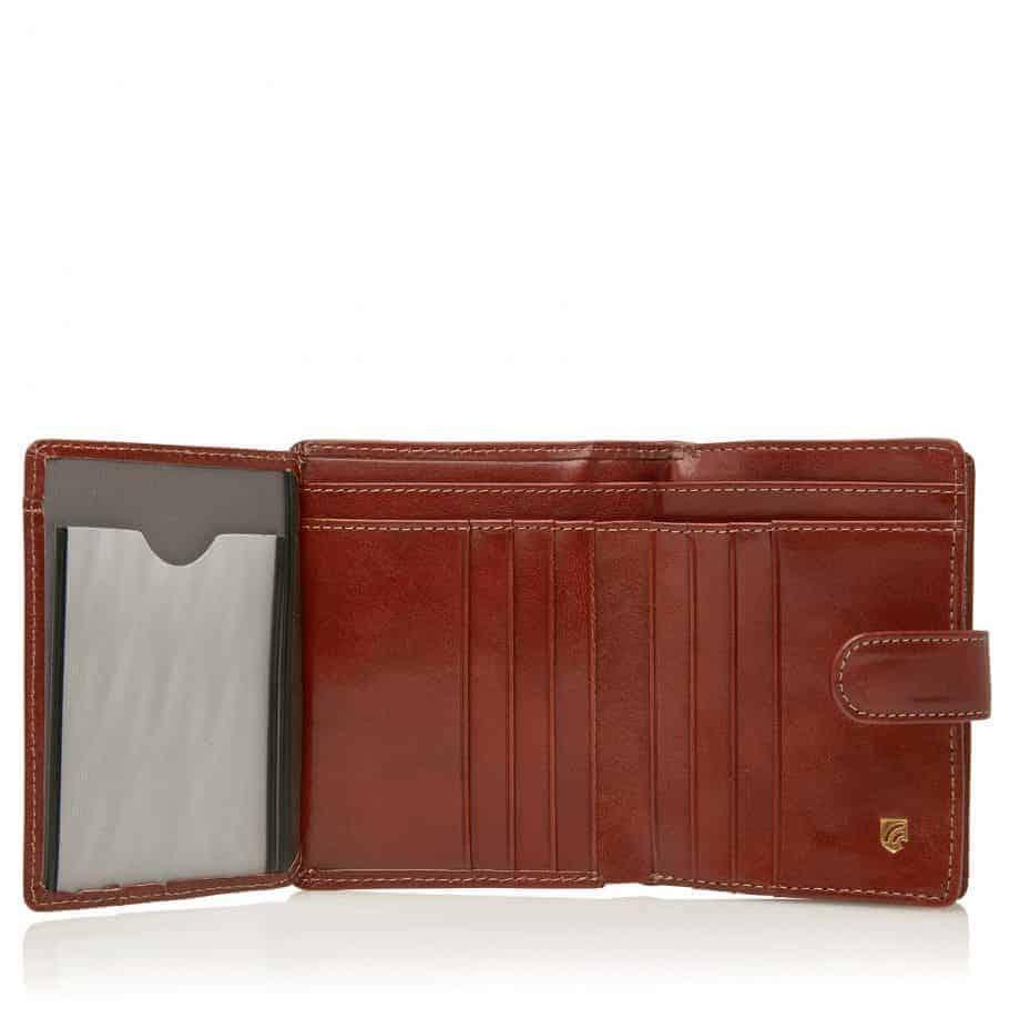 42 5420 Castelijn Beerens Tri Fold Zip Wallet RFID Cognac Innside 2