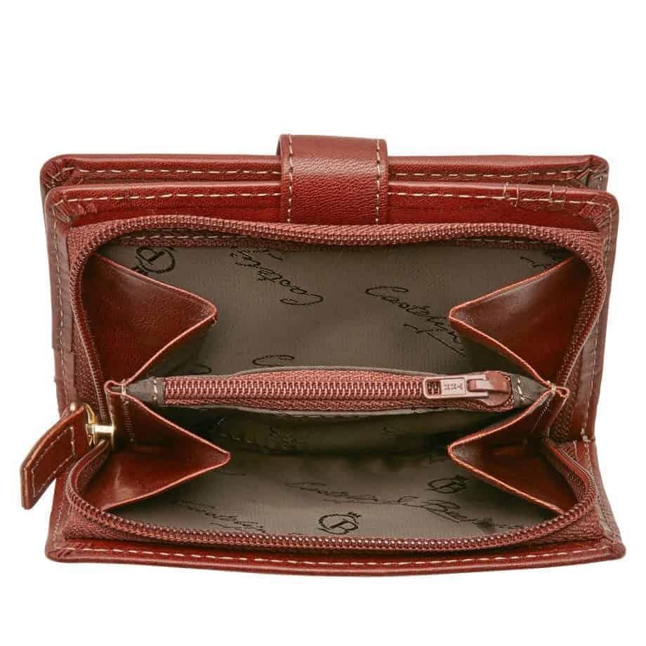 42 5420 Castelijn Beerens Tri Fold Zip Wallet RFID Cognac Innside 3