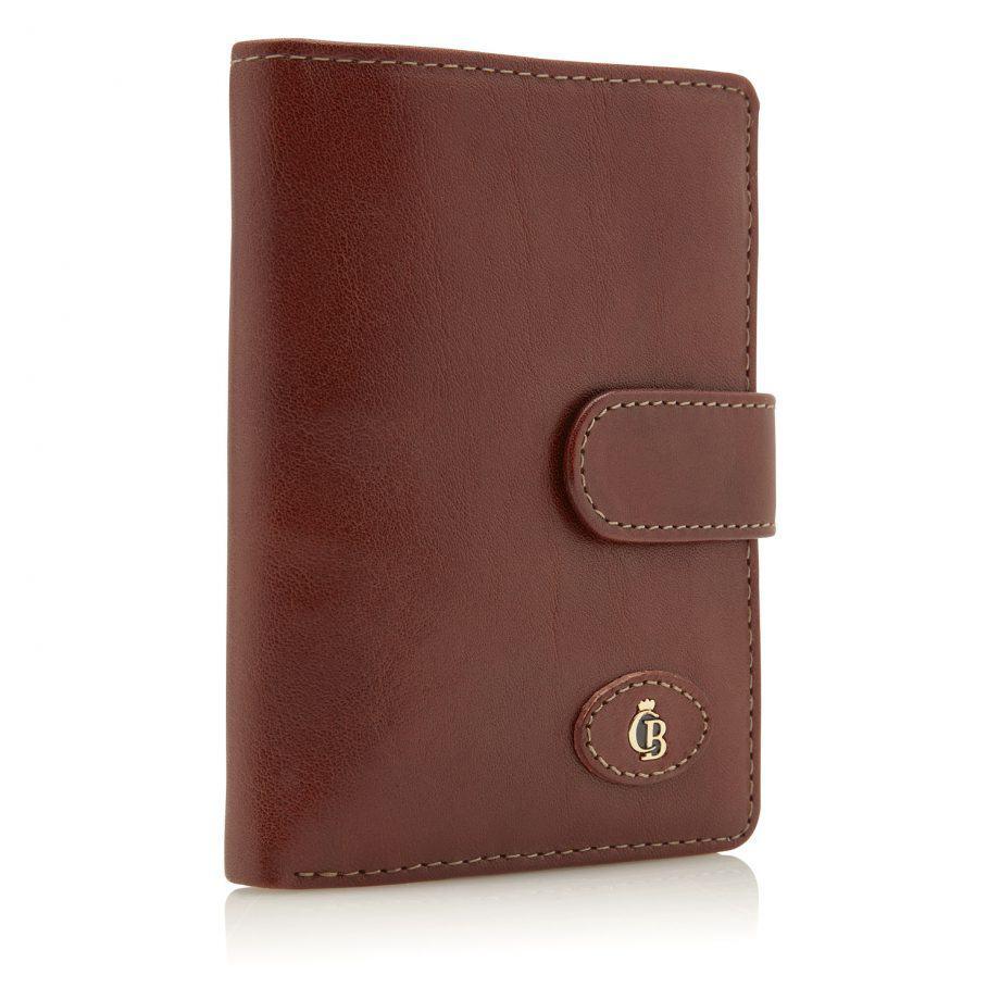 42 5420 Castelijn Beerens Tri Fold Zip Wallet RFID Cognac Side