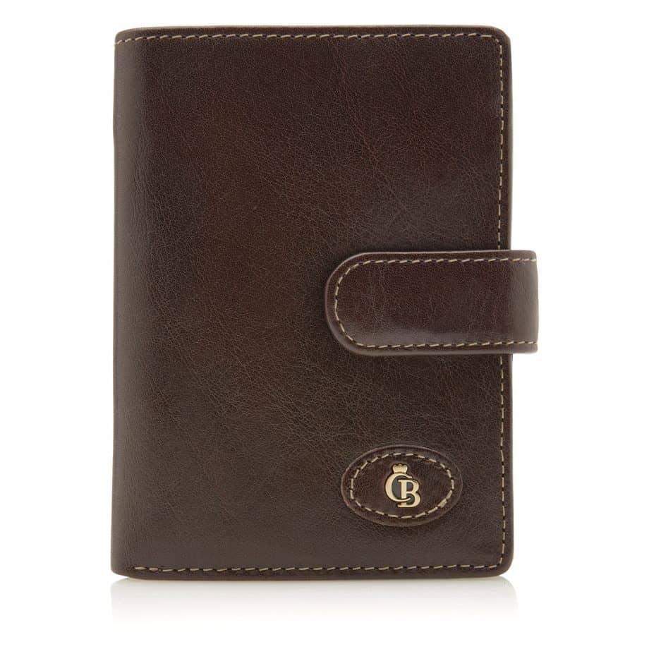 42 5420 Castelijn Beerens Tri Fold Zip Wallet RFID Mocca Forside