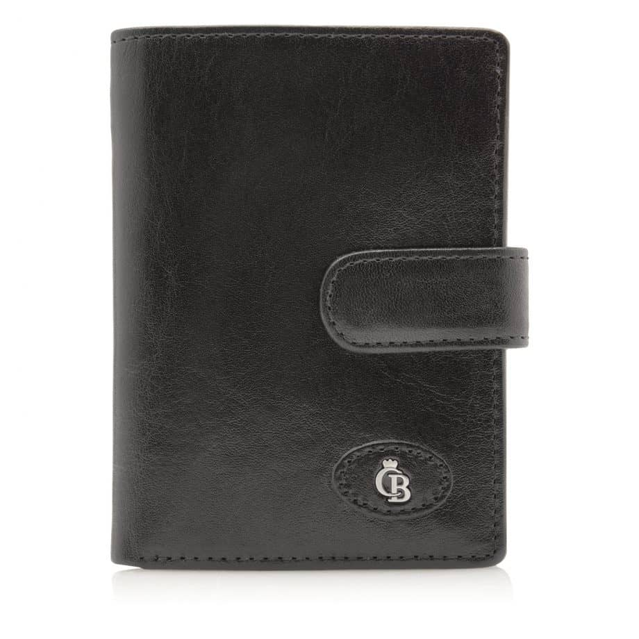 42 5420 Castelijn Beerens Tri Fold Zip Wallet RFID Sort Forside