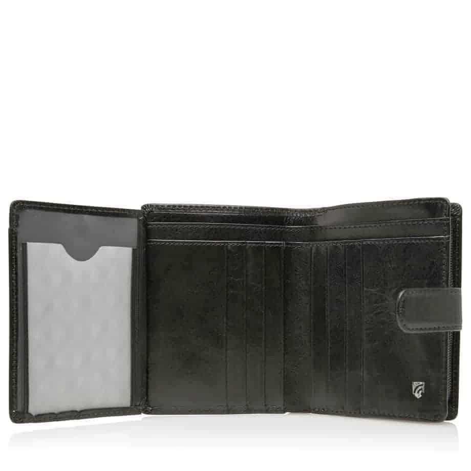 42 5420 Castelijn Beerens Tri Fold Zip Wallet RFID Sort Innside 2