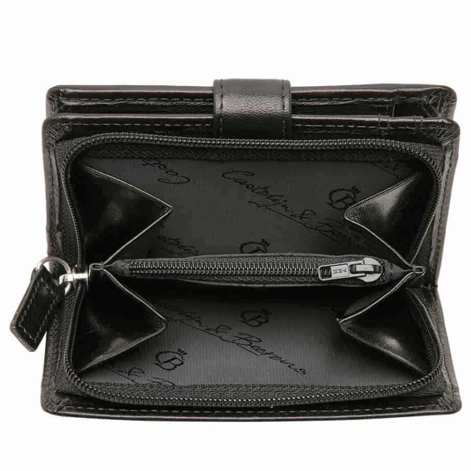 42 5420 Castelijn Beerens Tri Fold Zip Wallet RFID Sort Innside 3
