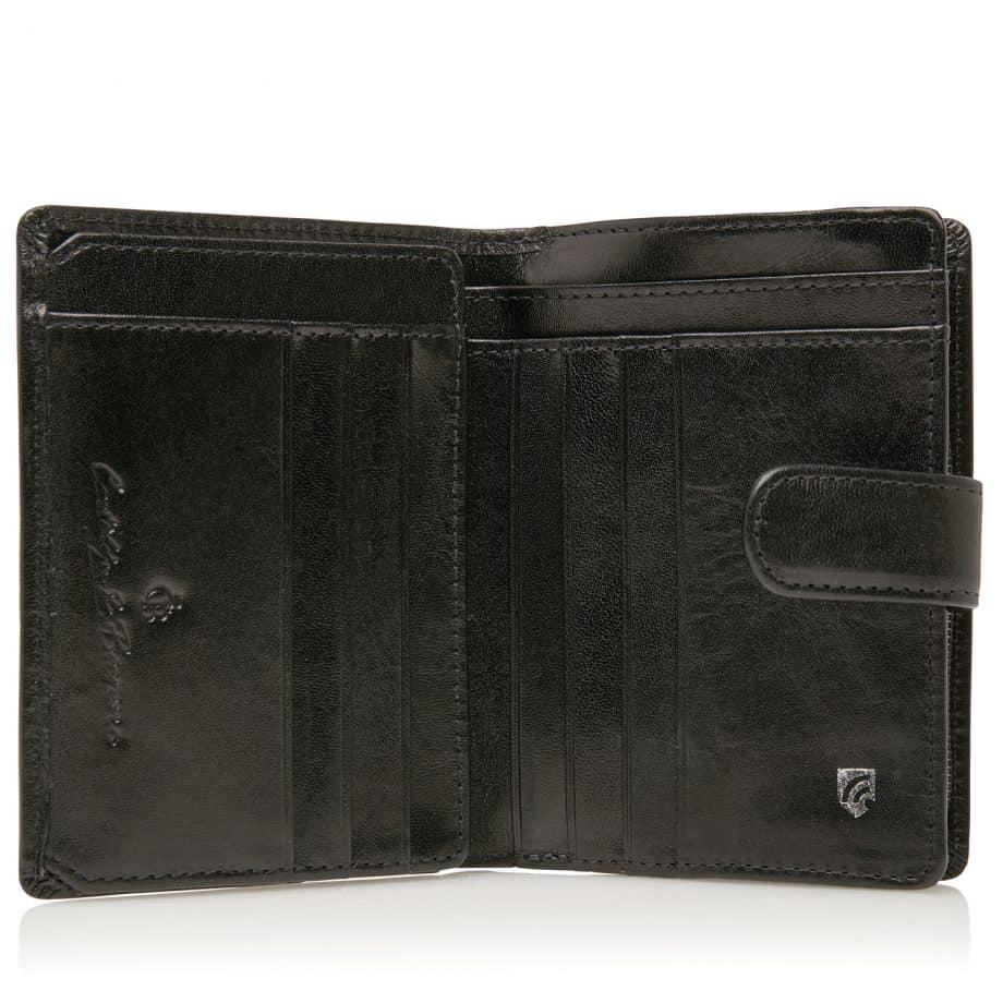42 5420 Castelijn Beerens Tri Fold Zip Wallet RFID Sort Innside