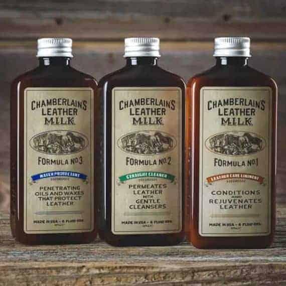 Chamberlains gavesett balsam rens impregnering - miljobilde tre flasker