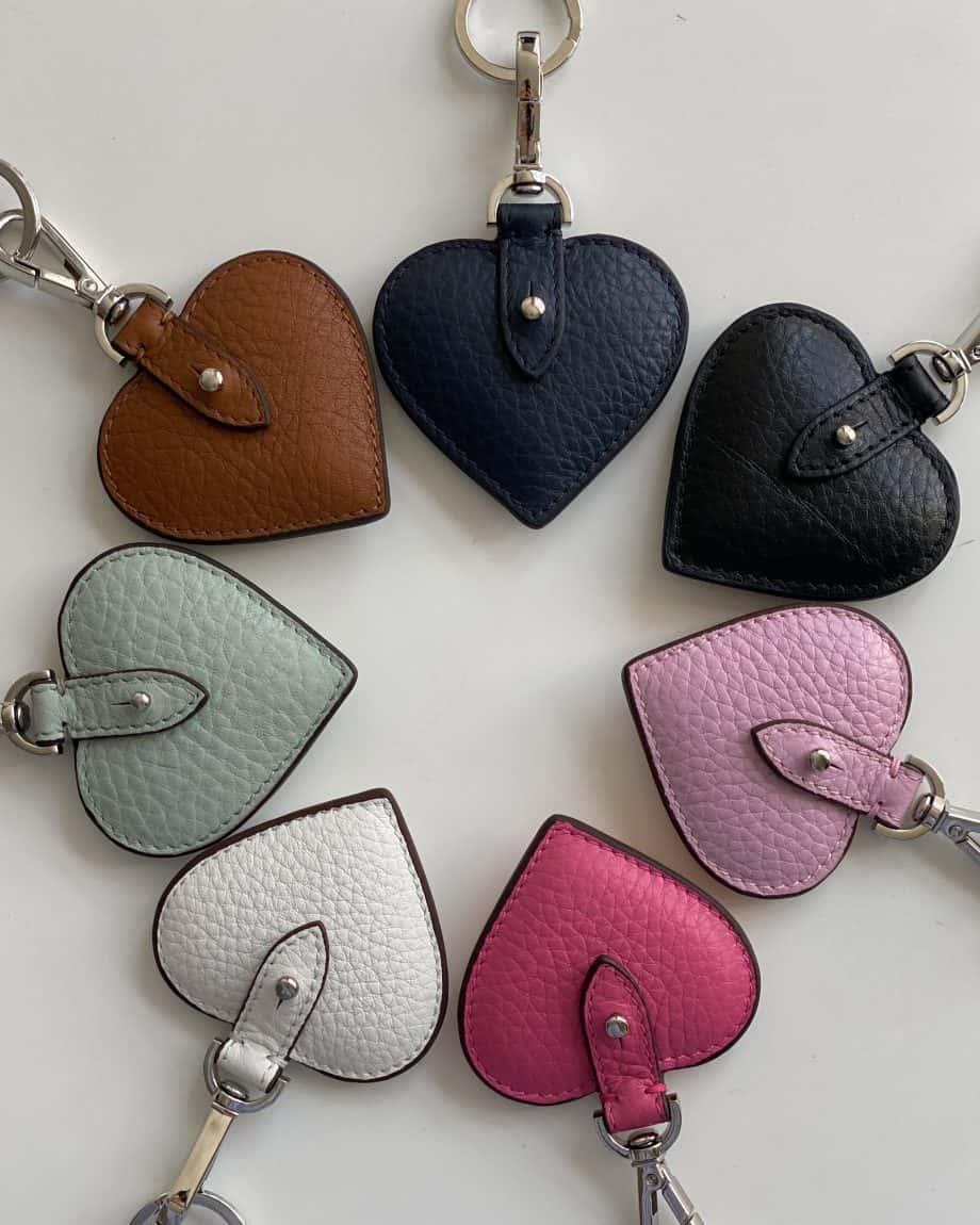DE118 Decadent Heart Keyring Alle Farger