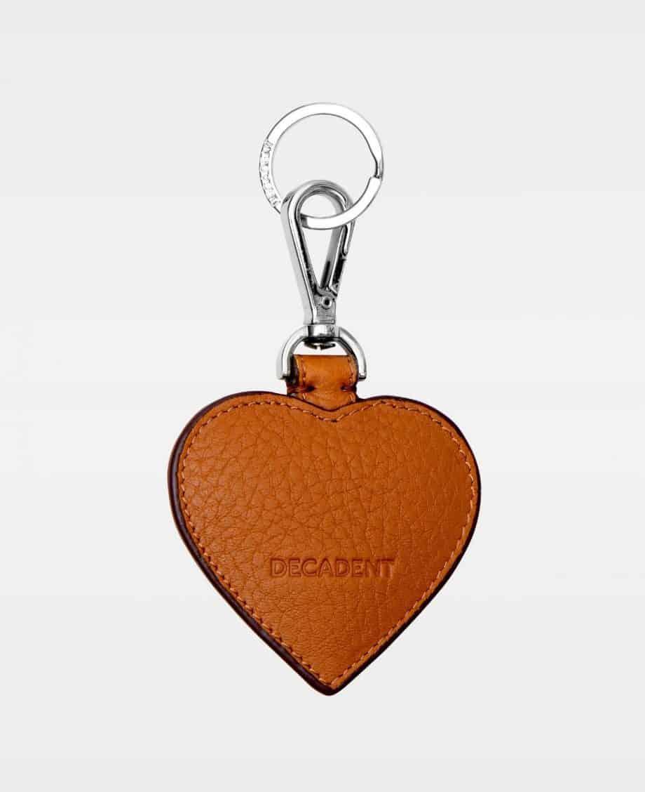 DE118 Decadent Heart Keyring Cognac Bakside