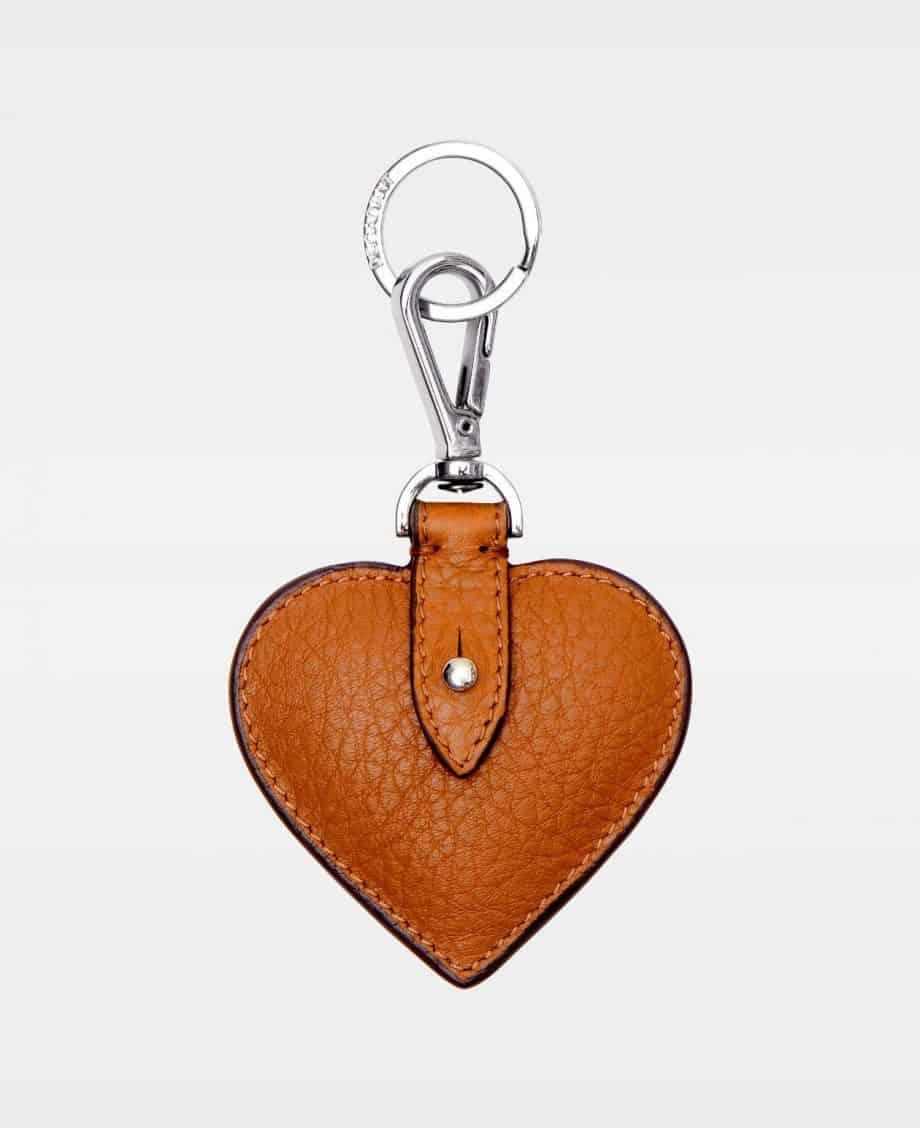 DE118 Decadent Heart Keyring Cognac Forside