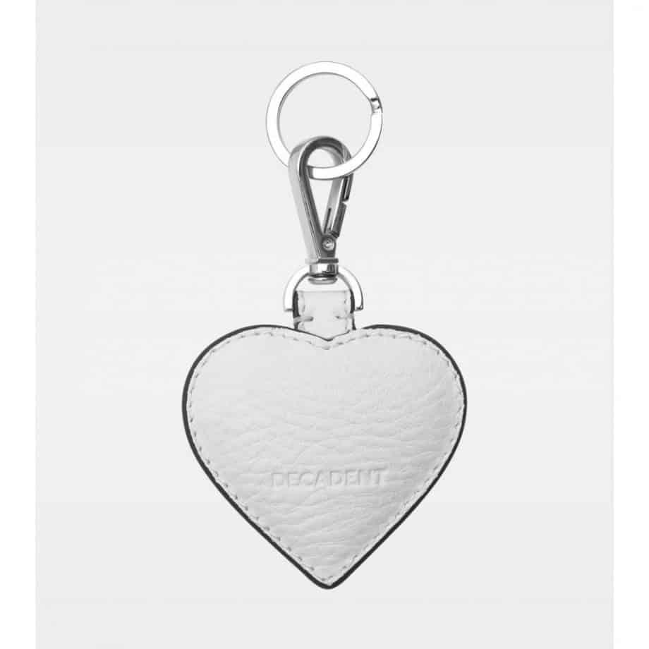 DE118 Decadent Heart Keyring Hvit bakside