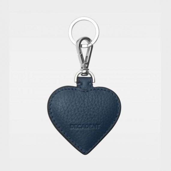 DE118 Decadent Heart Keyring navy bakside