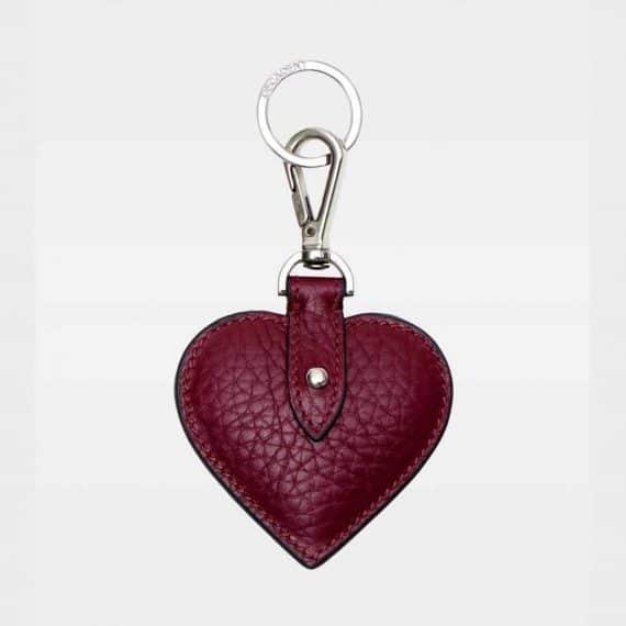 DE118 Decadent Heart Keyring oxblood forside
