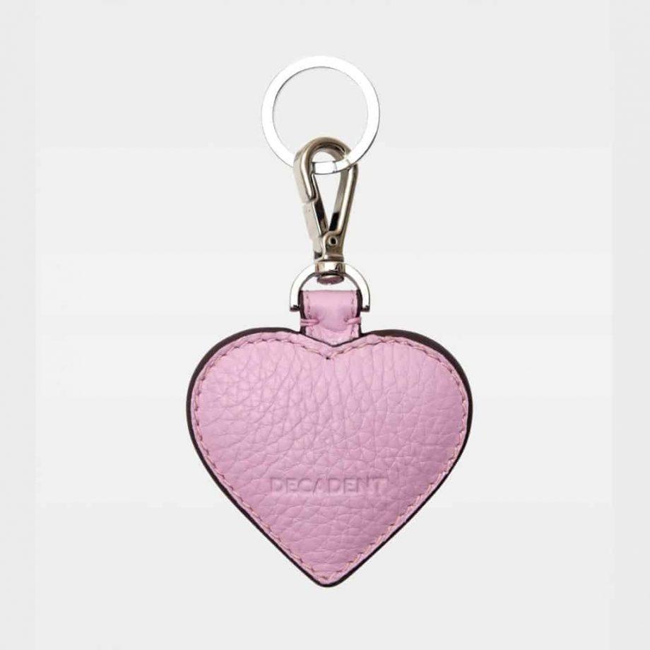DE118 Decadent Heart Keyring pale violet bakside