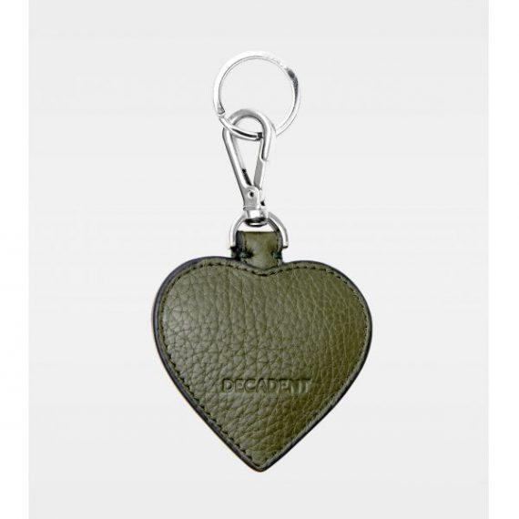 DE118 Decadent Heart army Keyring bakside