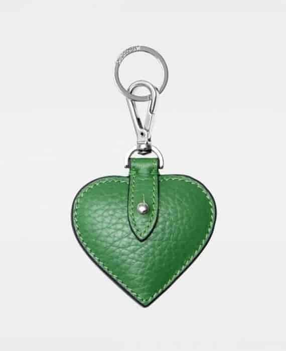 DE118 Decadent Heart green Keyring forside
