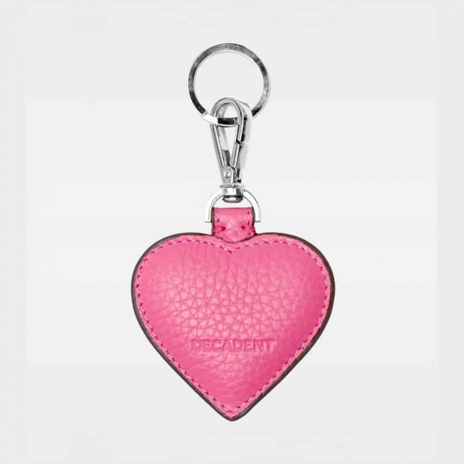 DE118 Decadent Heart pink Keyring bakside