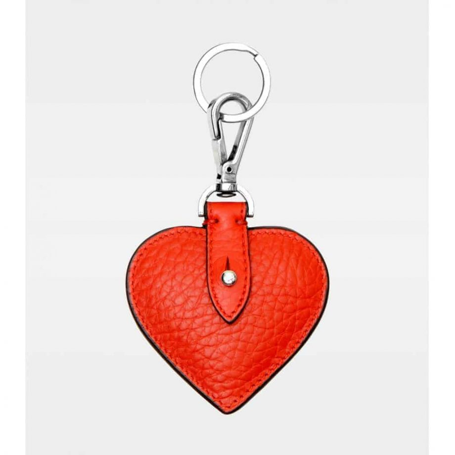DE118 Decadent Heart red Keyring forside