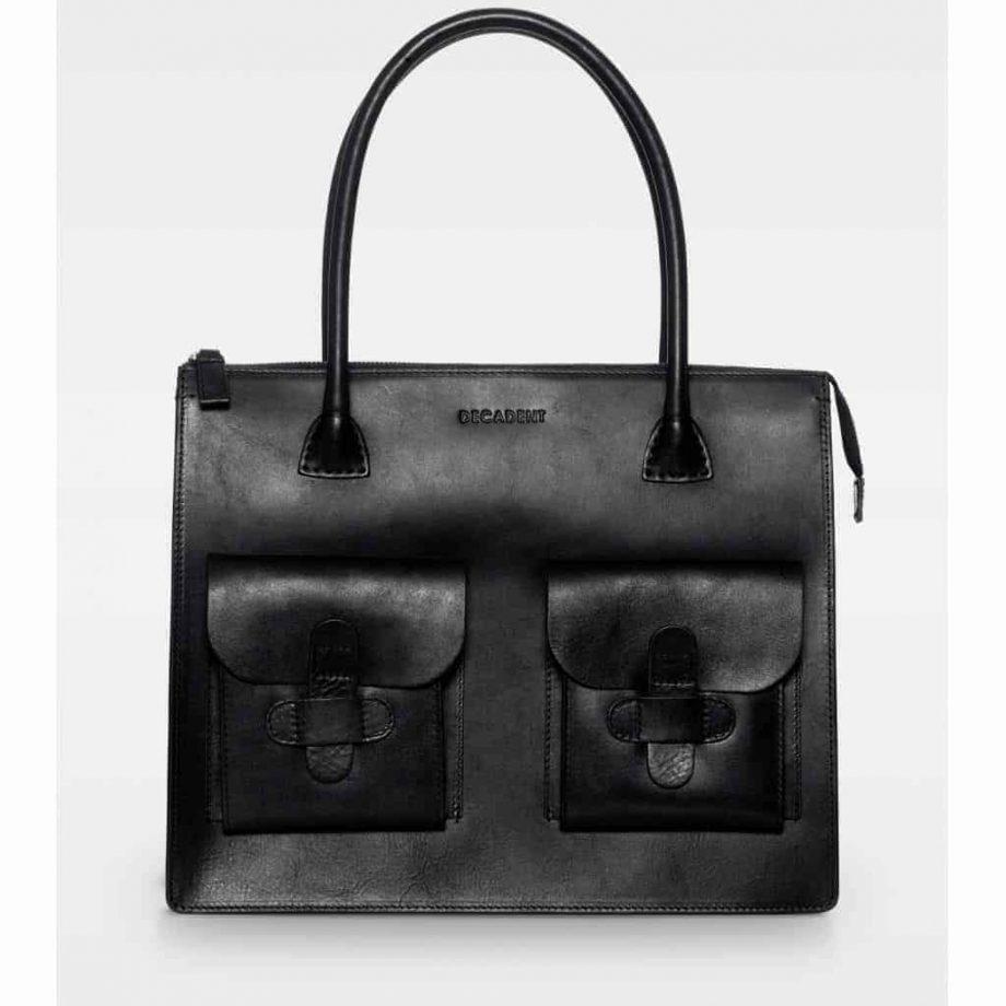 DE120-A Decadent Reba Working bag two pocket sort forside