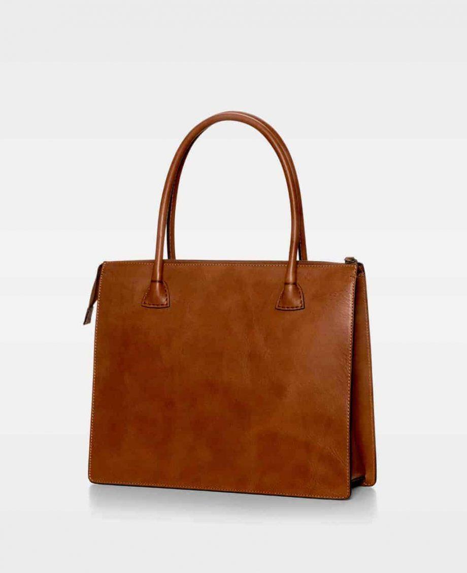 DE120 Reba working bag cognac bakside
