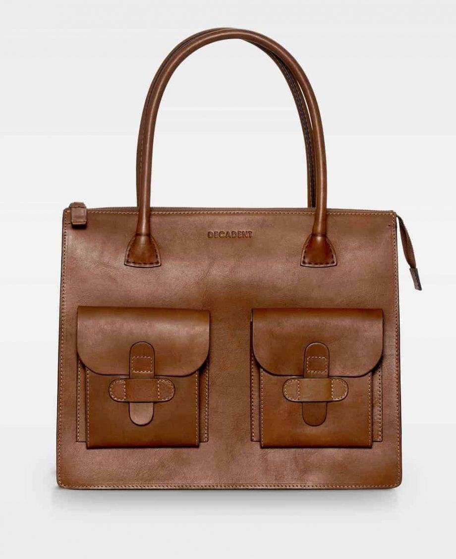 DE120 Reba working bag cognac forside
