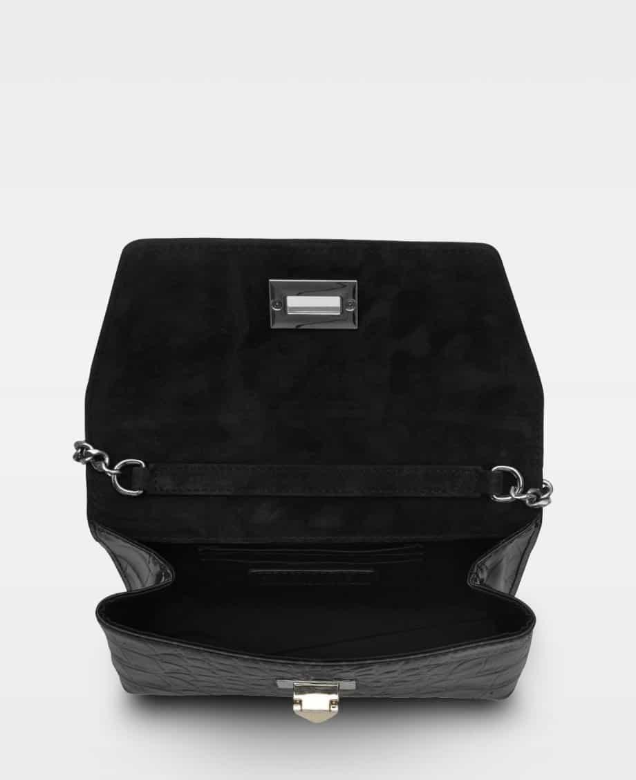 DE143 Decadent Cleva small pouch croco black forside