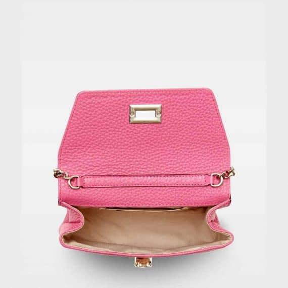 DE143 Decadent Cleva small pouch pink open