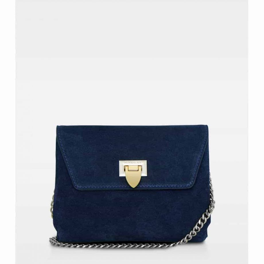 DE143 Decadent Cleva small pouch suede navy forside