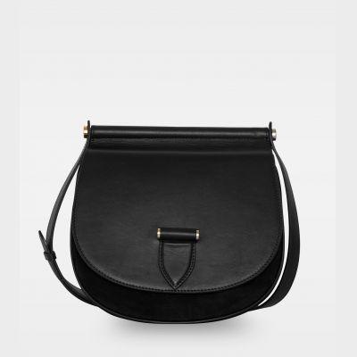 DE200 Brenna satchel bag sort forside
