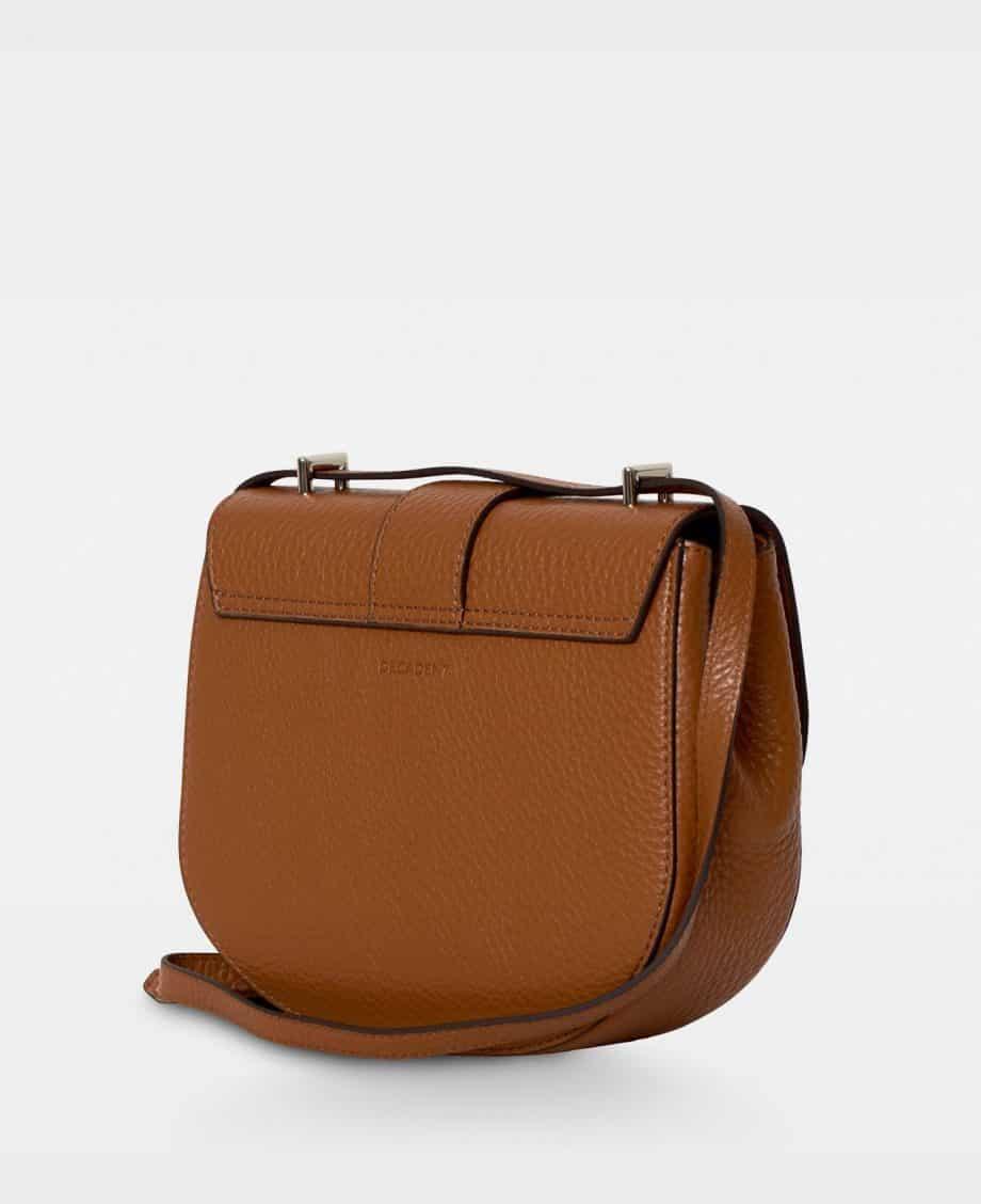 DE206 Kim satchel bag cognac bakside