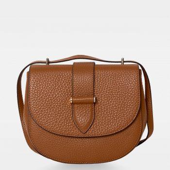 DE206 Kim satchel bag cognac forside